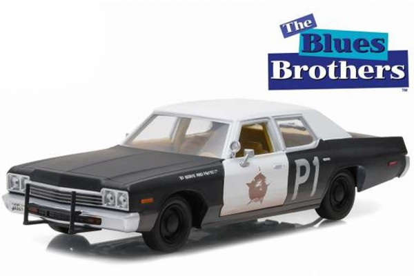 Greenlight 1:24 Dodge Monaco Blues Brothers Polizei Modellauto