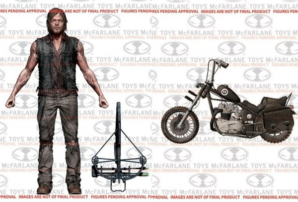 The Walking Dead - Daryl Dixon Action Figur mit Chopper Diecast Modellmotorrad