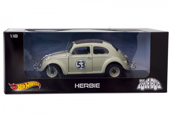 "Hot Wheels - 1:18 VW Käfer / Beetle Modellauto ""Herbie"" (The Love Bug)"