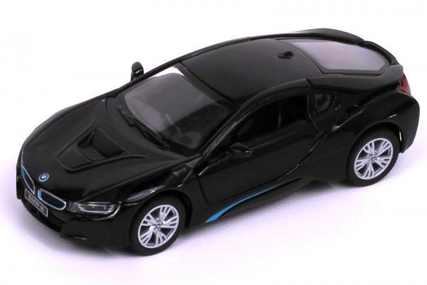 Rastar BMW i8 Elektroauto-Modell schwarz, Maßstab 1:43