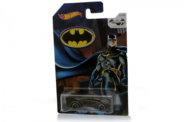 "Hot Wheels Mattel: Diecast Modellauto ""Live Batmobile"", bekannt aus den Batman Filmen, Maßstab 1:64"
