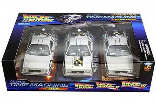 Welly 1:24 Back to the Future Trilogy DeLorean 3er Set Zurück in die Zukunft