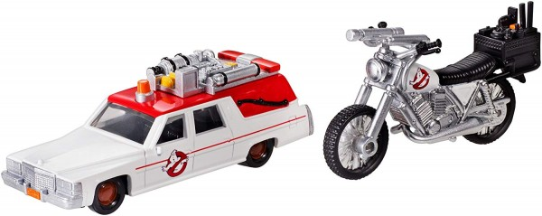 Hotwheels 1:64 Ghostbusters 2er Set ECTO-Car und ECTO Motorrad