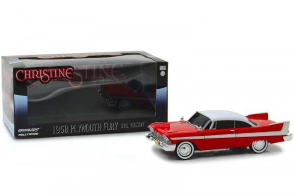 "Greenlight Collectibles – Plymouth Fury 1958 Diecast Modellauto ""Christine"" – Maßstab 1/24 – ""Evil V"