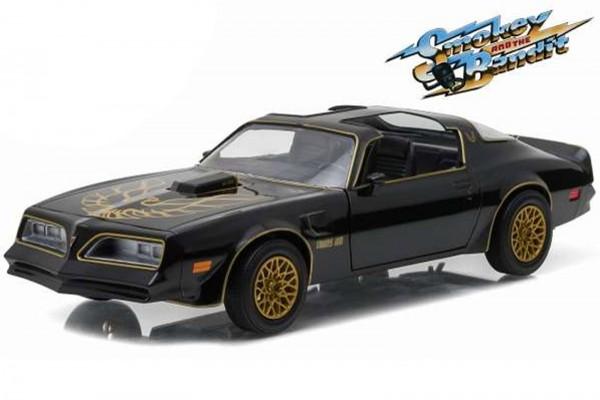 1977 Pontiac Trans Am Diecast Modellauto – Ein ausgekochtes Schlitzohr – Maßstab 1/24 – Schwarz/Gold