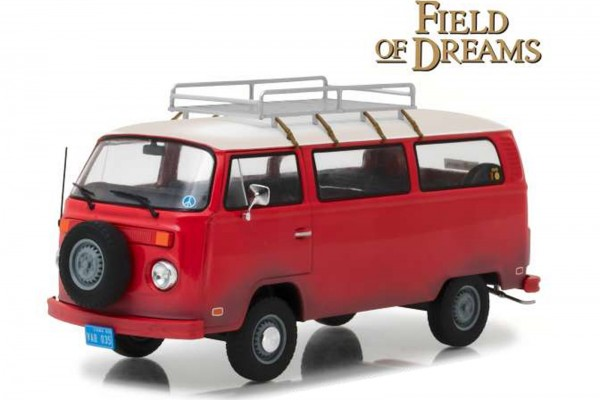 Greenlight Diecast Modellauto: 1973 Volkswagen Typ 2 / VW T2 (T2B) aus dem Film Field of Dreams rot,