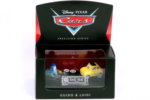 Mattel - Disney Pixar Cars - Precision Series - Guido & Luigi Diecast Fahrzeug - Maßstab 1:64