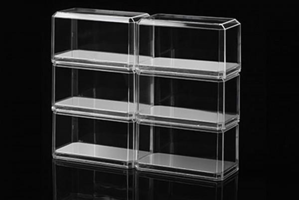 Vitrine für Modelle im Maßstab 1:64, 6er Pack mit Spiegelboden