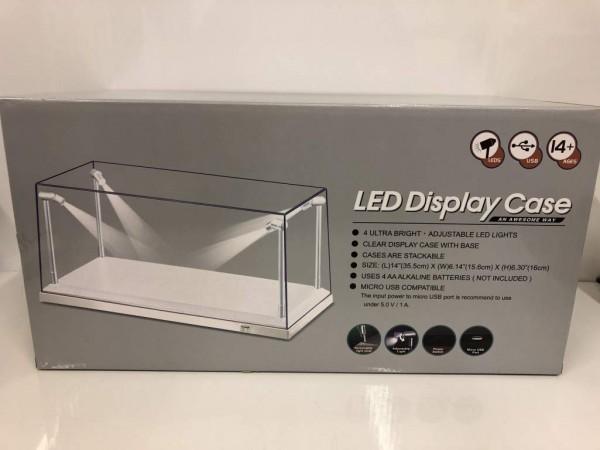 LED Vitrine für Modellautos im Maßstab 1:18, incl. Dimmkabel, weiße Basis